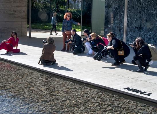 Making off Mies van de Rohe · Fina Lunes y alumnos